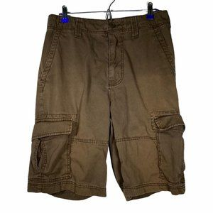 American Rag Brown Cargo Relaxed Fit Men Shorts 32